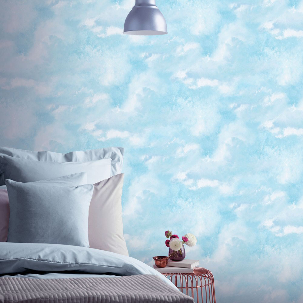 Diamond Galaxy Cloud Wallpaper Blue Arthouse 902004