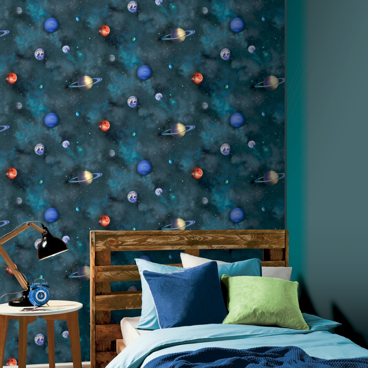 Solar Planets Wallpaper Navy / Multi Arthouse 296000