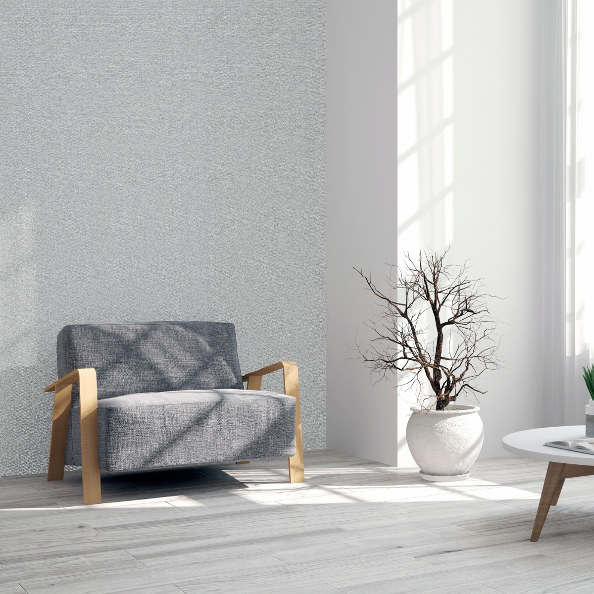 Calico Plain Texture Wallpaper Grey Arthouse 921200