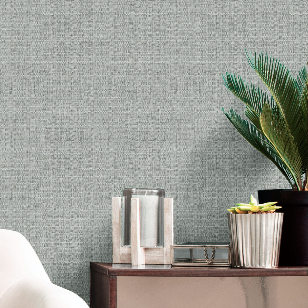 Giorgio Plain Texture Wallpaper Silver Belgravia 8103
