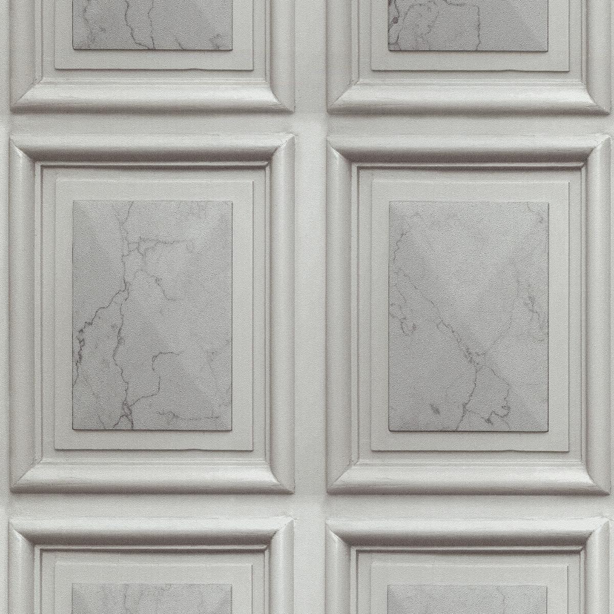 Erismann Imitations Marble Wood Panel Effect Wallpaper Grey