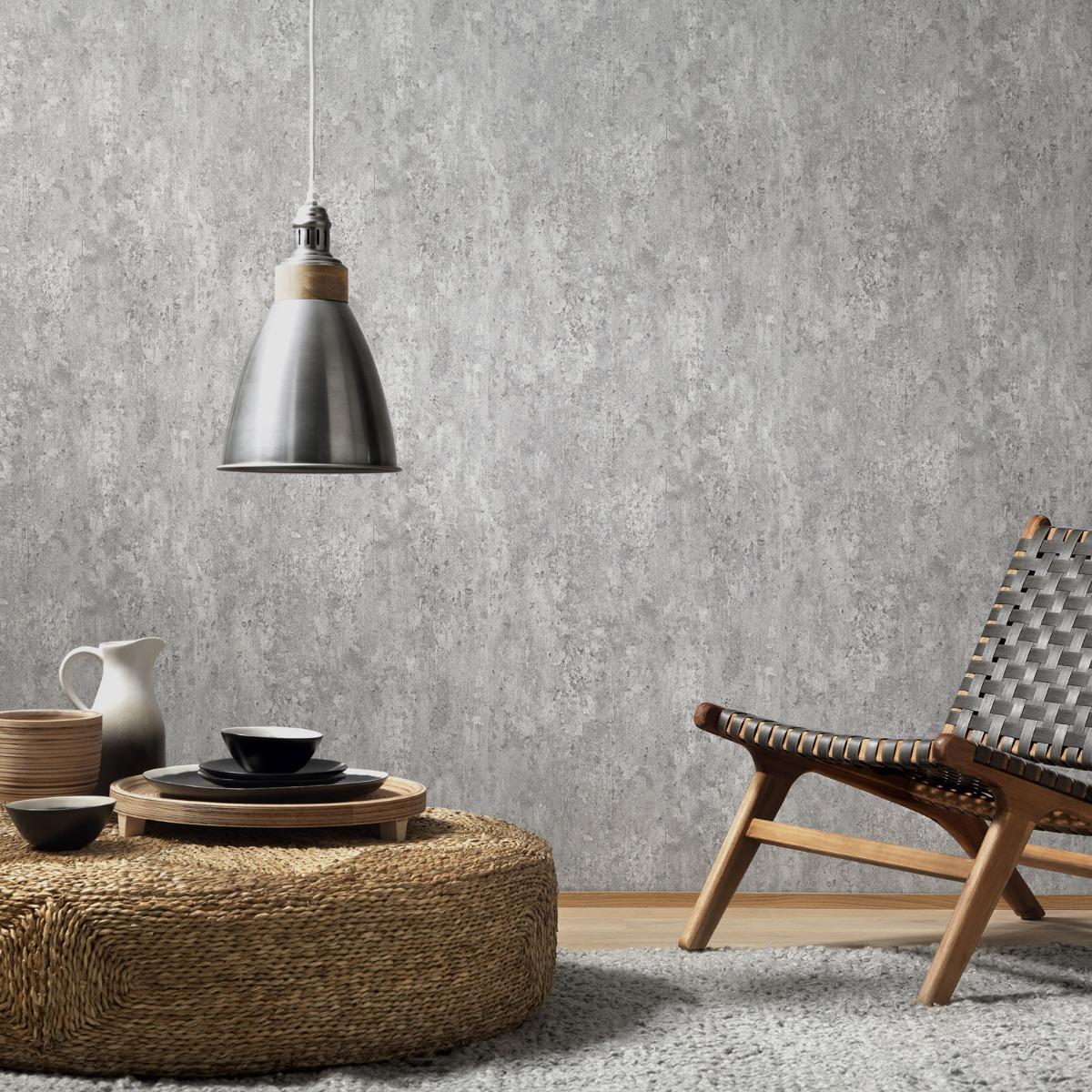 Erismann Imitations Concrete Effect Wallpaper (6321-10-BUR)