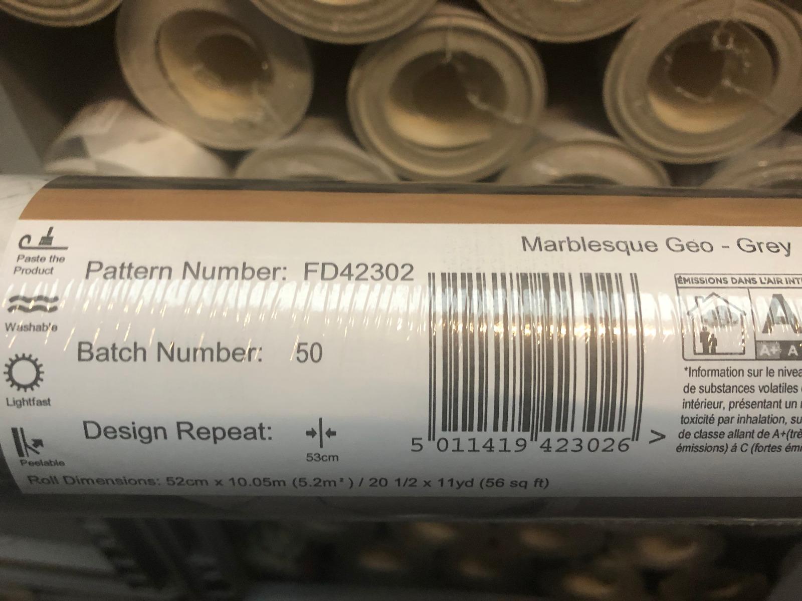 wallpaper batch number label