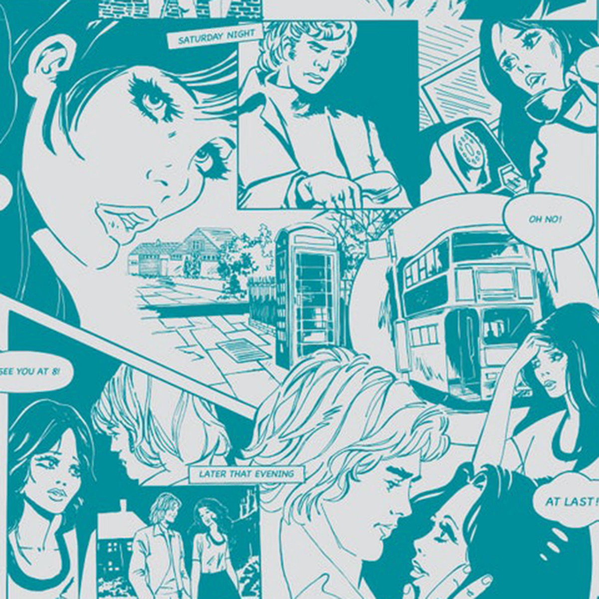 mini moderns comic strip true romance blue