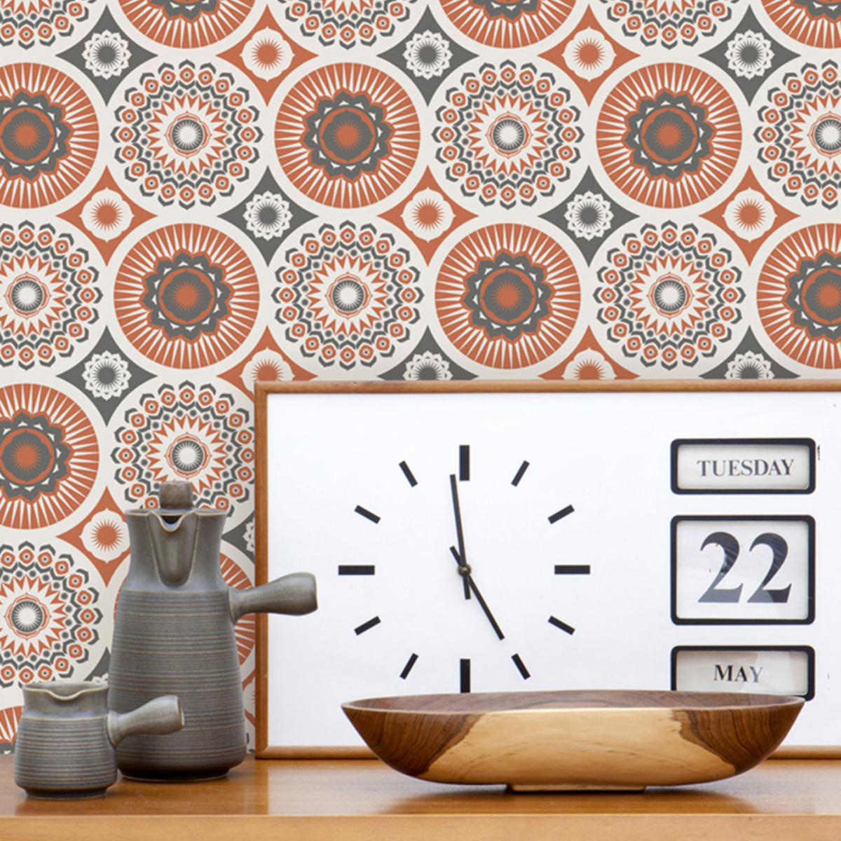 Mini Moderns Darjeeling Wallpaper orange