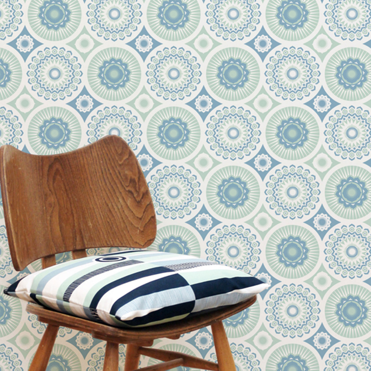 Mini Moderns Darjeeling Wallpaper blue