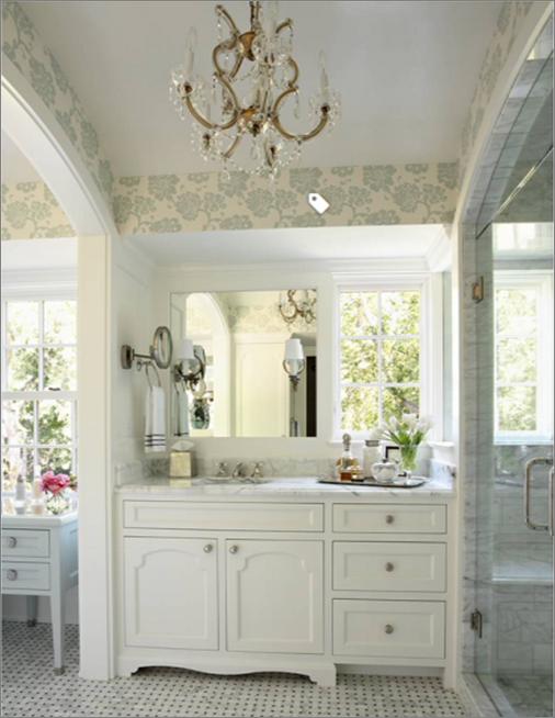 houzz wallpaper bathroom pattern