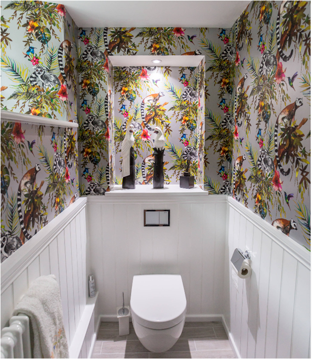 houzz toilet bathroom wallpaper lemur