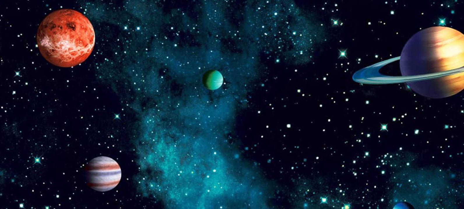 Starship Glitter Wallpaper Blue Arthouse 668000