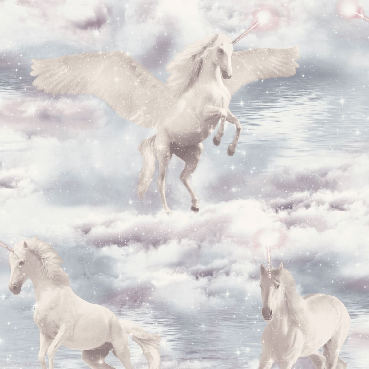 unicorn glitter sparkle stars christmas wallpaper