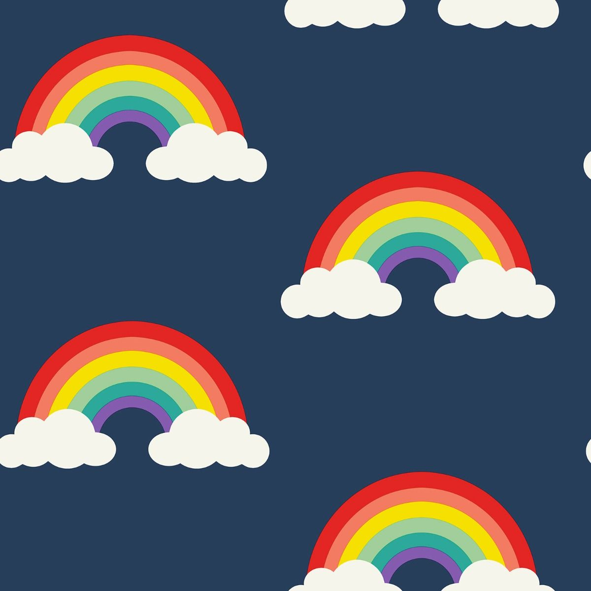 nhs rainbow covid wallpaper navy blue