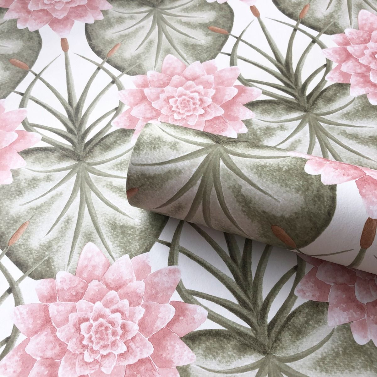 The Chateau by Angel Strawbridge The Lily Garden Wallpaper Cream