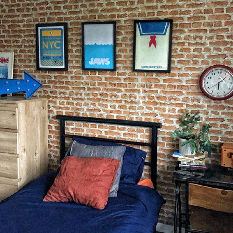 brick wallpaper renovation