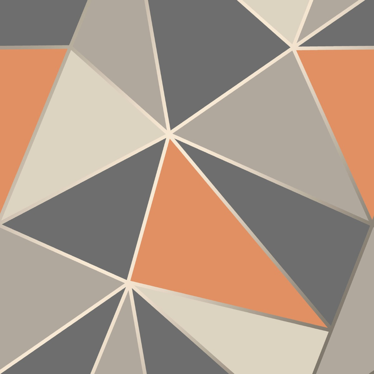 Apex Geometric Wallpaper Burnt Orange And Grey Fine Decor Fd42002