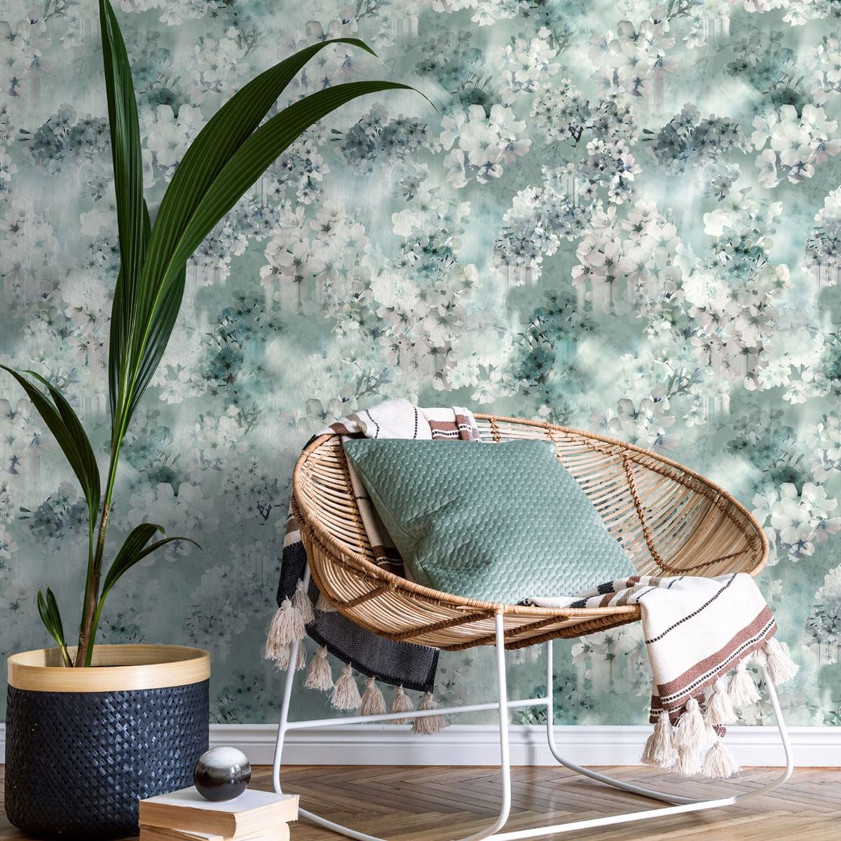 Ted's Enchanted Collection Vanilla Wallpaper-Pale Teal, Ted Baker 12486