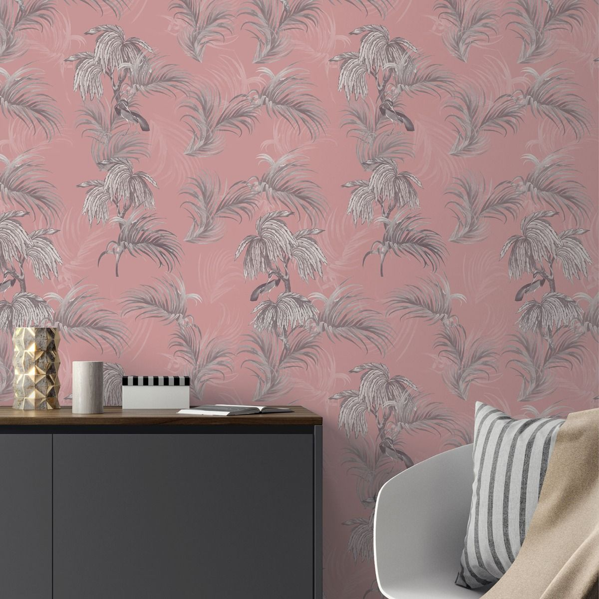 Ted's Enchanted Collection Horizon Wallpaper-Pink, Ted Baker 12500