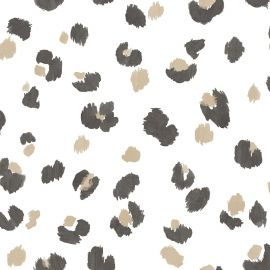 Leopard Spot Wallpaper White/Gold/Black World of Wallpaper WOW039