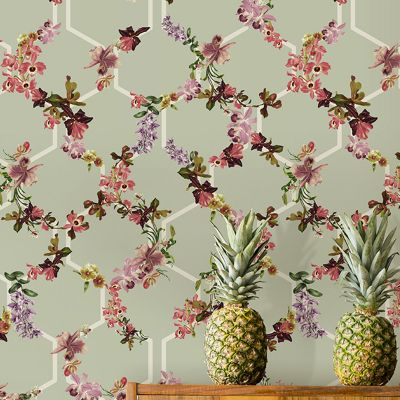 Wallpaper 12647 Lost Gardens Ted Baker Fantasia Collection Trelise Green