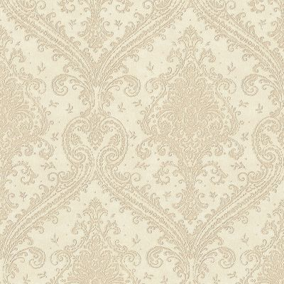 Rasch Saphira Shimmering Damask Ivory and Pearl 420555