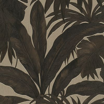 Versace Giungla Palm Leaves Wallpaper - Black and Gold - 96240-1 - 10m x 70cm