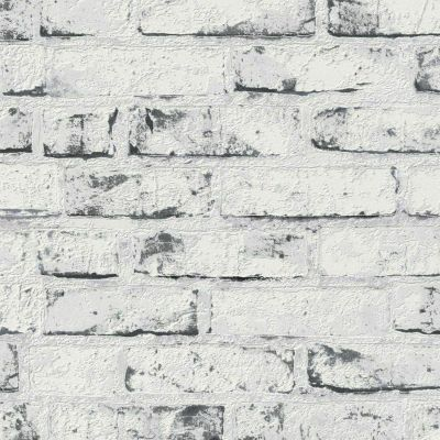 New England Rustic Brick Wallpaper White AS Creation 9078-37
