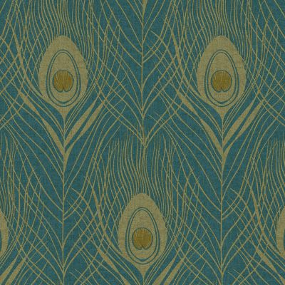 Absolutely Chic Peacock Feather Wallpaper Blue AS Creation AS369712