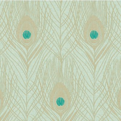 Absolutely Chic Peacock Feather Wallpaper Duck Egg AS Creation AS369713