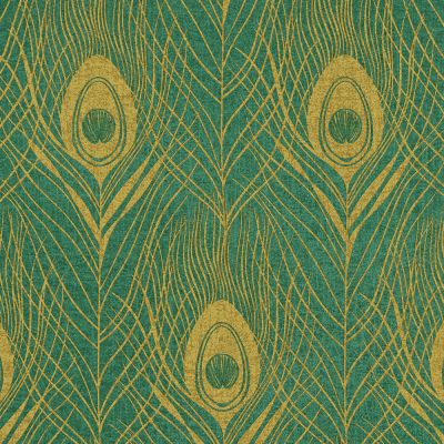 Absolutely Chic Peacock Feather Wallpaper Teal AS Creation AS369714