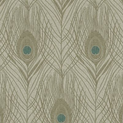 Absolutely Chic Peacock Feather Wallpaper Grey AS Creation AS369716