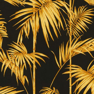 Lola Paris Palm Motif Wallpaper Black / Gold AS Creation 36919-5
