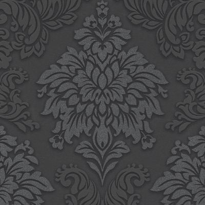 Lizzy London Baroque Damask Wallpaper Charcoal AS Creation 36898-4