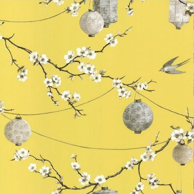 Chinese Garden Wallpaper Yellow Arthouse 695401