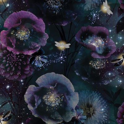 Fantasia Nocturnal Wallpaper Purple / Teal Arthouse 692301