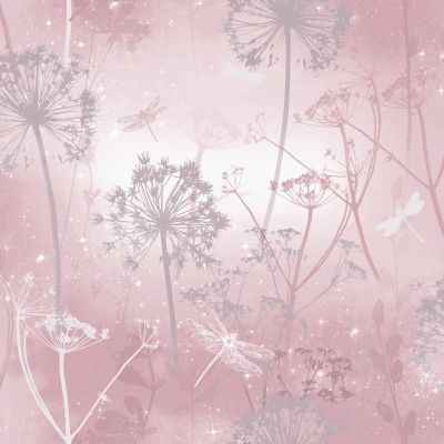 Fantasia Damselfly Wallpaper Blush Arthouse 692305