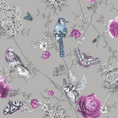 Fantasia Paradise Garden Wallpaper Mink Arthouse 692402