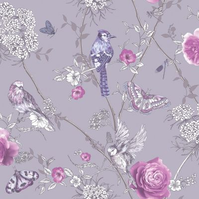 Fantasia Paradise Garden Wallpaper Silver Arthouse 692403