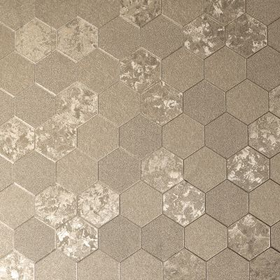 Foil Honeycomb Wallpaper Silver Arthouse 294700