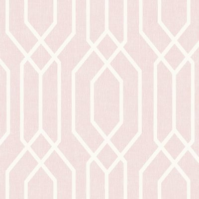 Scandi Leaf Wallpaper - Pink - Arthouse 908200