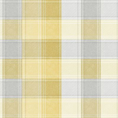 Country Check Wallpaper Ochre Arthouse 902807