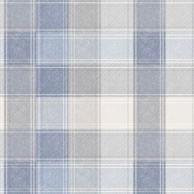 Country Check Wallpaper Denim Blue Arthouse 902808