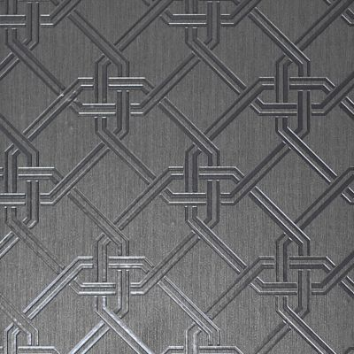 Gianni Geometric Foil Wallpaper Silver Arthouse 903105