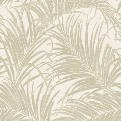 Kiss Foil Palm Leaf Wallpaper Gold / Cream Arthouse 903201