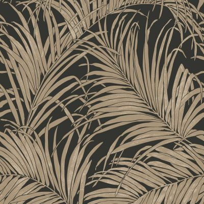 Kiss Foil Palm Leaf Wallpaper Bronze / Black Arthouse 903202