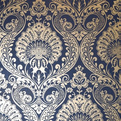 Luxe Damask Wallpaper Gunmetal Silver Arthouse 910307