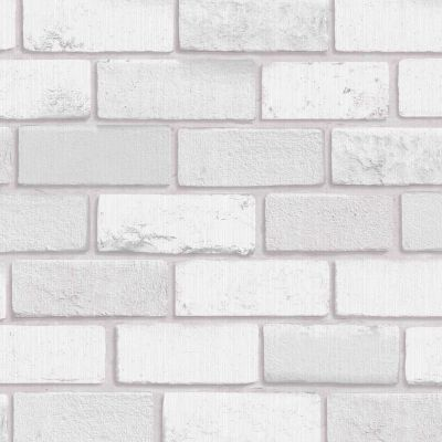 Diamond Brick Wallpaper Silver Grey Arthouse 669401