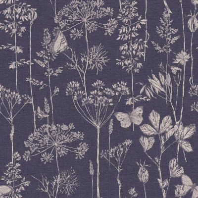 Town and Country Meadow Floral Wallpaper Indigo Arthouse 904108