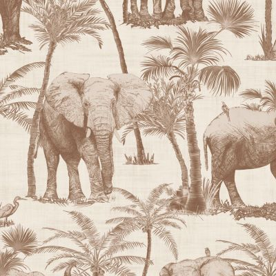 Journeys Elephant Grove Wallpaper Coffee Arthouse 610703