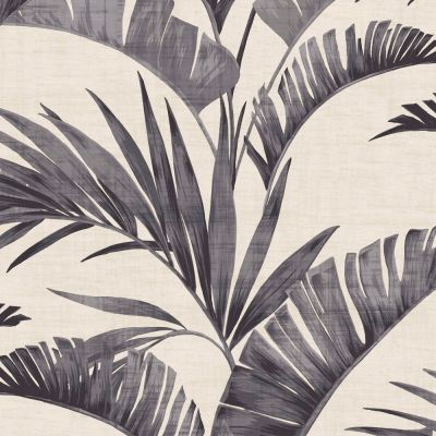 Journeys Banana Palm Wallpaper Charcoal Arthouse 610601