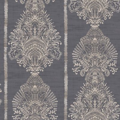 Journeys Silk Road Patterned Wallpaper Charcoal Arthouse 610606