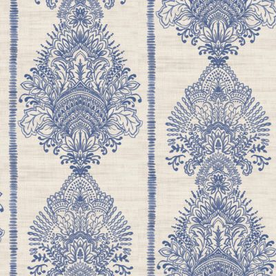 Journeys Silk Road Patterned Wallpaper Indigo Arthouse 610607